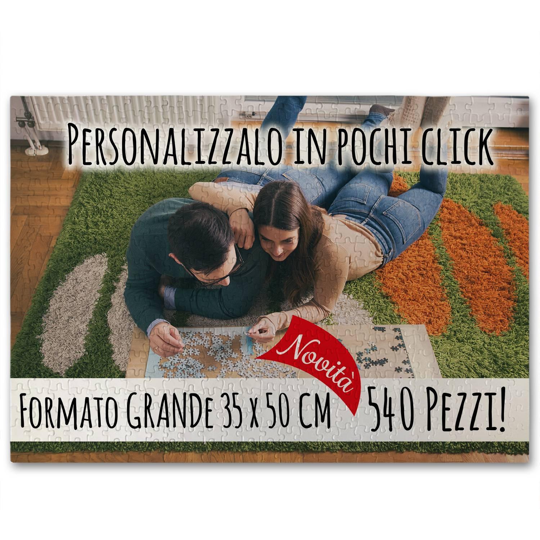 Nuovo Puzzle Grande 35x50cm da 540 Pezzi personalizzabile in pochi click